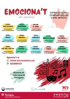 """L'Institut Municipal d'Educació de Tarragona (IMET) posa en marxa el projecte """"Emociona't"""""""