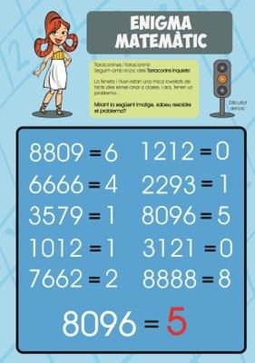 Solució de l'enigma matemàtic! - 11/05