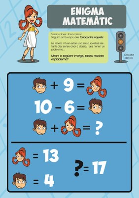 Solució de l'enigma matemàtic - 28/04